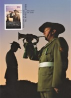 Australia 2008 ANZAC - Lest We Forget - Bugler, The Last Post Maximum Card - Maximumkaarten