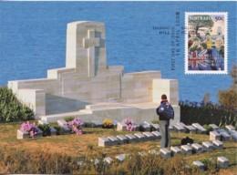 Australia 2008 ANZAC - Lest We Forget - Memorial At Gallipoli Maximum Card - Maximumkaarten