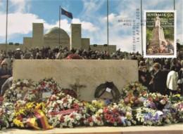 Australia 2008 ANZAC - Lest We Forget - ANZAC Wreaths, Australian War Memorial 2001 Maximum Card - Maximumkaarten