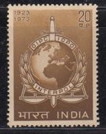 India MNH 1973, Interpol, Inter, Police, Globe, Map, - Nuovi