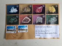 Enveloppe Argentine Distribuée Avec Des Timbres De Minéraux Et Autres - Lettres & Documents
