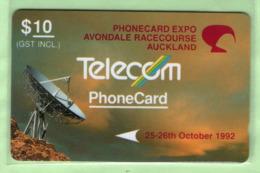 New Zealand - Private Overprint - 1992 Phonecard Expo, Avondale $10 - VFU - NZ-PO-04 - Nuova Zelanda