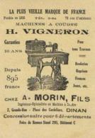 MACHINES A COUDRE  H VIGNERON  Chez A  MORIN  Fils DINAN 2 Grande Rue Place Des Cordeliers RV - Dinan