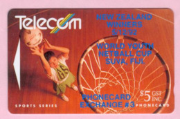 New Zealand - Private Overprint - 1992 Phonecard Exchange #3 $5 - VFU - NZ-PO-07 - Nuova Zelanda