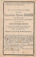 Kalmthout, Calmthout, 1893, Cornelius Joosen, Maas - Devotion Images