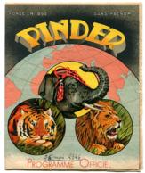 Programme Oficiel Cirque PINDER 1946 - Programs