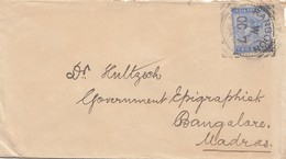 India: Letter Rangoon To Bangalore - Indien