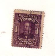 CUBA 1910 TELEGRAPHE YVERT N°82 OBLITERE - Telegraph