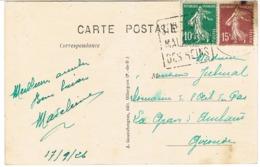 """DAGUIN DE ST NECTAIRE SUR CPA DEFAUT D'IMPRESSION MALADIE DES """"SEINS"""" - Marcophilie (Lettres)"""