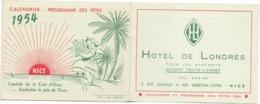 Kalender Calendrier - Programme Des Fetes à Nice 1954 - Calendriers
