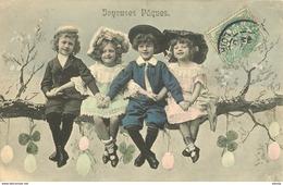 WW JOYEUSES ET HEUREUSES PAQUES. Impeccable 1908 - Pâques