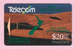 New Zealand - Private Overprint - 1992 Phonecard Exchange #4 $20 - VFU - NZ-PO-08 - Nuova Zelanda