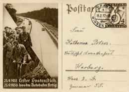 DRAGE über Winsen (Luhe)  - 1937 ,  Ganzsache Nach Harburg  -  Postnebenstempel , Landpoststempel - BRD