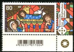 BRD - Mi 3495 ECKE REU - ** Postfrisch (E) - 80+40C    Weihnachten 19 - Ausgabe 10.10.2019 - Unused Stamps