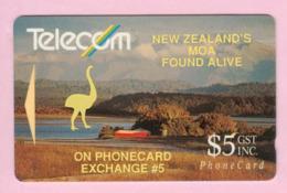 New Zealand - Private Overprint - 1992 Phonecard Exchange #5 $5 - VFU - NZ-PO-09 - Nuova Zelanda