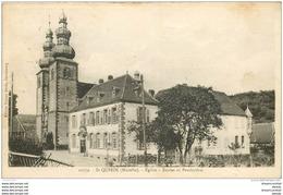 57 SAINT-QUIRIN. Eglise, Ecoles Et Presbytère 1934. Timbre Absent - Other Municipalities