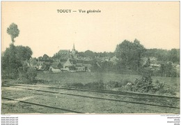 89 TOUCY. Vue Sur La Ville Du Chemin De Fer - Toucy