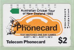 New Zealand - Private Overprint - 1992 Phonecard Exchange #7 $2 - VFU - PO-10A - Nuova Zelanda