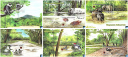 Sri Lanka Stamps 2019, Wasgamuwa National Park, Birds, Fish, Monkey, Lizard, Elephant, MSs - Sri Lanka (Ceylan) (1948-...)