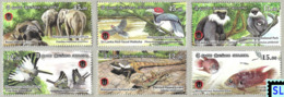 Sri Lanka Stamps 2019, Wasgamuwa National Park, Birds, Fish, Monkey, Lizard, Elephant, MNHs - Sri Lanka (Ceylan) (1948-...)