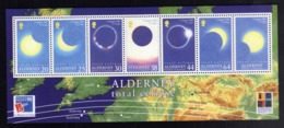 ALDERNEY 1999 TOTAL ECLIPSE ECLISSI TOTALE BLOCK SHEET BLOCCO FOGLIETTO MNH - Alderney