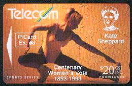 New Zealand - Private Overprint - 1992 Phonecard Exchange #8 $20 - VFU - NZ-PO-11 - Nuova Zelanda