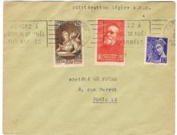O.MEC RBV PARIS XVIII PENSEZ A L'ARBRE DE NOEL SUR LETTRE - Marcophilie (Lettres)