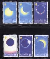 ALDERNEY 1999 TOTAL ECLIPSE ECLISSI TOTALE COMPLETE SET SERIE COMPLETA MNH - Alderney