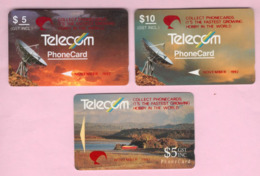 New Zealand - Private Overprint - 1992 Collect Phonecards Set (3) - VFU - NZ-PO-14 - Nuova Zelanda