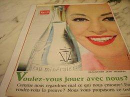 ANCIENNE PUBLICITE  MATCH ET VITTEL 1961 - Posters