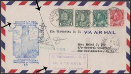 CANADA 1931 1st REGULAR OFFICIAL FLIGHT PILOT SIGNED COVER TO VICTORIA. - Brieven En Documenten