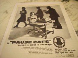 ANCIENNE PUBLICITE SECRETAIRE DETENTE PLAISIR PAUSE CAFE  1961 - Posters