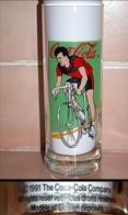 Verre COCA-COLA -  Coureur Cycliste Vélo Bicyclette Course - Daté De 1991_D345 - Glazen