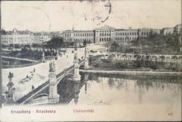 Strasburg - Strasbourg // Universitat Mit Bahnzug Stempel 1905 - Straatsburg