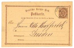 Deutsche Reichs-Post, Postkarte, Clausthal 1873 Nach Dresden - Preussen