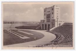 DT-Reich (001026) Propagandakarte, Chemnitz Großkampfbahn, Stadion Mit Befehlsturm, Blanco Gest. Chemnitz SA Gruppe - Storia Postale