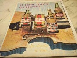 ANCIENNE PUBLICITE LA GAMME FAVORITE LA SLAVIA 1961 - Alcohols