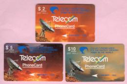 New Zealand - Private Overprint - 1993 Collect Phonecards Set (3) - VFU - NZ-PO-18 - Nuova Zelanda