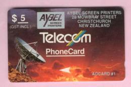 New Zealand - Private Overprint - 1993 Aybel Screen Printers $5 - VFU -  NZ-PO-19 - Nuova Zelanda