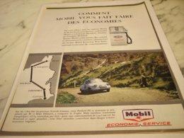 ANCIENNE  PUBLICITE  ECONOMIE AVEC MOBIL ET PANHARD  1961 - Other