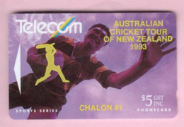 New Zealand - Private Overprint - 1993 Australian Cricket Tour $5 - VFU - NZ-PO-20 - Nuova Zelanda