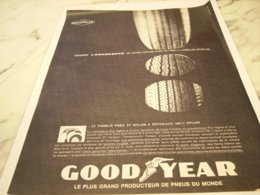 ANCIENNE PUBLICITE ADHERANCE PNEU GOODYEAR  1961 - Other