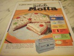 ANCIENNE PUBLICITE LE GATEAU GLACE GELATI DE MOTTA  1961 - Posters