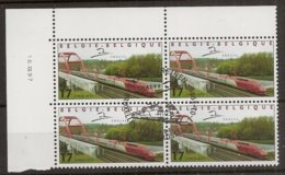 """BELG.1998 2735 MNH With Gomme ,4erblocs 1°jour/dag: """" THALYS """" - FDC"""