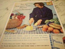 ANCIENNE PUBLICITE  BON PAIN ET MARGARINE PLANTA  1961 - Posters