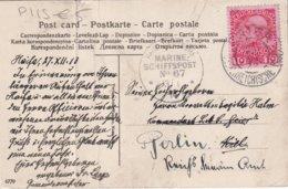 LEVANT AUTRICHIEN 1913 CARTE POSTALE DE CAIFA CACHET MARITIME N° 67 - Oriente Austriaco