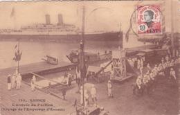 CPA Indo-Chine - Saïgon - L'Arrivée Du Parthos (Voyage De L'Empereur D'Annam) - Paquebot - Surchargé - Viêt-Nam