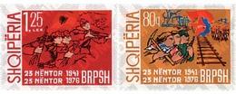Ref. 78440 * MNH * - ALBANIA. 1976. 35 ANIVERSARIO DEL PARTIDO DE LOS TRABAJADORES ALBANESES - Eisenbahnen