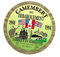 ETIQUETTE De FROMAGE..CAMEMBERT Du DEBARQUEMENT 1944-1994..fabriqué En NORMANDIE..série Limitée - Fromage