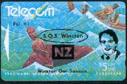 New Zealand - Private Overprint - 1993 SOS Winston $5 - FU - NZ-PO-27 - Nuova Zelanda